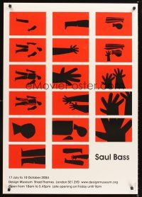 2k290 SAUL BASS ART EXHIBITION English 1sh '04 London museum art exhibition!