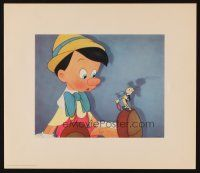 2m449 PINOCCHIO set of 4 13x15 art prints '40 Disney, from world premiere, in deluxe folder!