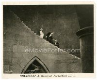 2s264 DRACULA 8x9.5 still '31 vampire Bela Lugosi, Helen Chandler & Manners on stairs,Tod Browning