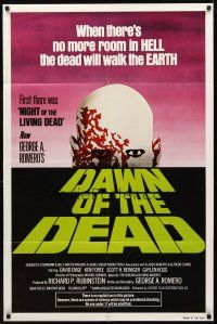 2w254 DAWN OF THE DEAD green title style 1sh '79 George Romero, no more room in HELL for the dead!