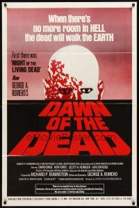 2w253 DAWN OF THE DEAD 16mm style 1sh '79 George Romero, no more room in HELL for the dead!