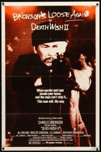 2w263 DEATH WISH II 1sh '82 Charles Bronson is loose again and wants the filth off the streets!