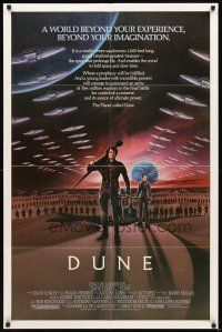 2w309 DUNE 1sh '84 David Lynch sci-fi epic, art of Kyle MacLachlan in a world beyond imagination!