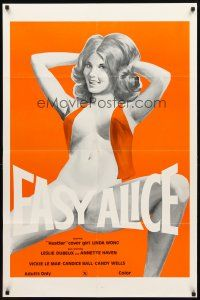 2w314 EASY ALICE 1sh '76 beyond outrageous art of near-naked Linda Wong in the title role!