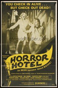 2w315 EATEN ALIVE 1sh R80 Tobe Hooper, great image of sexy screaming girls in the Horror Hotel!