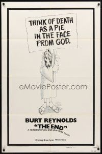 2w323 END style A advance 1sh '78 Burt Reynolds & Dom DeLuise, death is a pie in the face from god!