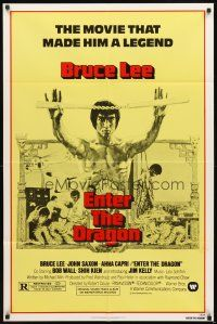 2w327 ENTER THE DRAGON 1sh R79 Bruce Lee kung fu classic, the movie that made him a legend!