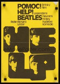 3b061 HELP Czech 11x16 R86 great images of The Beatles, John, Paul, George & Ringo!