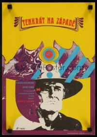 3b062 ONCE UPON A TIME IN THE WEST Czech 11x16 '73 Sergio Leone, cool art by Vajec!