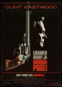 3b012 DEAD POOL Finnish '88 Clint Eastwood as tough cop Dirty Harry, cool smoking gun image!