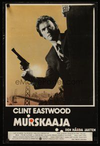 3b013 ENFORCER Finnish '76 classic, Clint Eastwood as Dirty Harry holding big gun!