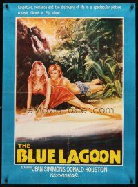 3b044 BLUE LAGOON Pakistani R70s art of sexy stranded Jean Simmons & Donald Houston!