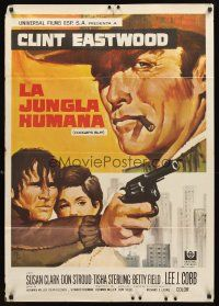 3b074 COOGAN'S BLUFF Spanish '68 art of Clint Eastwood in New York City, directed by Don Siegel!