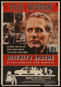 3b076 FORT APACHE THE BRONX Spanish '81 Paul Newman, Edward Asner & Ken Wahl as New York City cops