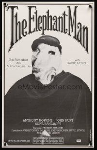 3b036 ELEPHANT MAN Swiss '80 John Hurt is not an animal, Anthony Hopkins, directed by David Lynch!