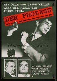3b039 TRIAL Swiss R80s Orson Welles' Le proces, Anthony Perkins, Romy Schneider!