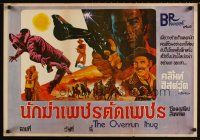 3b041 OVERRUN THUG Thai poster '70s western action art of Clint Eastwood, Jack Palance & more!