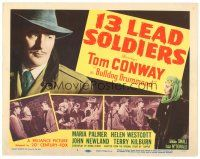 3e025 13 LEAD SOLDIERS TC '48 Tom Conway as detective Bulldog Drummond, Maria Palmer pointing gun!