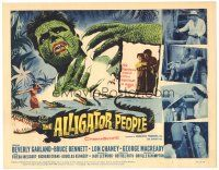 3e029 ALLIGATOR PEOPLE TC '59 Beverly Garland, Lon Chaney Jr., they'll make your skin crawl!