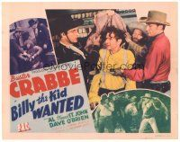 3e031 BILLY THE KID WANTED TC '41 cowboys Buster Crabbe, Al Fuzzy St. John & Dave O'Brien!