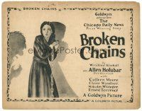 3e035 BROKEN CHAINS TC '22 cool full-length artwork of Colleen Moore in chains and shackles!