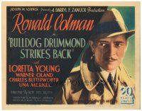 3e036 BULLDOG DRUMMOND STRIKES BACK TC '34 best close up of detective Ronald Colman!