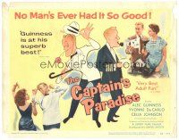 3e037 CAPTAIN'S PARADISE TC '53 great art & photos of Alec Guinness trying to juggle two wives!