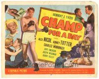 3e039 CHAMP FOR A DAY TC '53 full-length image of boxer Alex Nicol, sexy Audrey Totter!