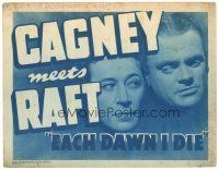 3e046 EACH DAWN I DIE TC R48 great super close up of prisoners James Cagney & George Raft!
