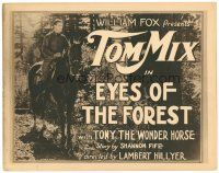 3e049 EYES OF THE FOREST TC '23 great image of cowboy Tom Mix riding on Tony the Wonder Horse!