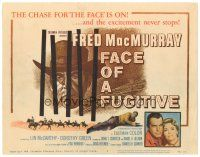 3e050 FACE OF A FUGITIVE TC '59 great artwork of cowboy Fred MacMurray behind bars!