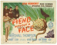 3e051 FIEND WITHOUT A FACE TC '58 giant brain & sexy girl in towel, mad science spawns evil!