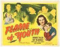 3e053 FLAME OF YOUTH TC '49 Barbara Fuller, Ray McDonald, juvenile delinquents!