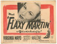 3e054 FLAXY MARTIN TC '49 sexy Virginia Mayo is a bad girl with a heart of ice!