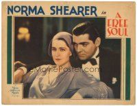 3e018 FREE SOUL LC '31 romantic close up of young Clark Gable behind Norma Shearer!