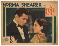3e019 FREE SOUL LC '31 intense close up of young Clark Gable glaring at pretty Norma Shearer!