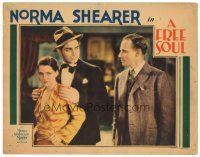 3e020 FREE SOUL LC '31 young Clark Gable between pretty Norma Shearer & angry Leslie Howard!