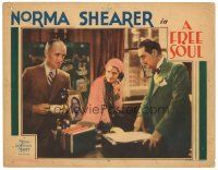 3e024 FREE SOUL LC '31 Norma Shearer between James Gleason & her father Lionel Barrymore!
