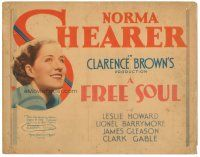 3e017 FREE SOUL TC '31 Norma Shearer is the daughter of a lawyer who runs off with a mobster!