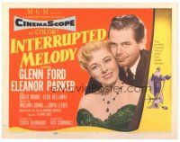 3e063 INTERRUPTED MELODY TC '55 Glenn Ford, Eleanor Parker as opera singer Melody Lawrence!
