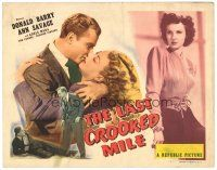 3e067 LAST CROOKED MILE TC '46 detective Don Red Barry, Ann Savage, Adele Mara, crime thriller!