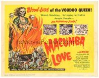 3e073 MACUMBA LOVE TC '60 thrill to the demon-rites of the witch goddess voodoo queen!
