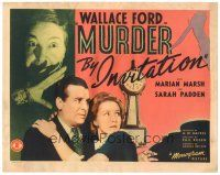 3e078 MURDER BY INVITATION TC '41 Wallace Ford & Marian Marsh, murder mystery comedy!