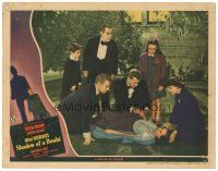 3e015 SHADOW OF A DOUBT LC '43 Joseph Cotten & 5 others around fainted Teresa Wright, Hitchcock!