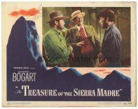 3e007 TREASURE OF THE SIERRA MADRE LC #6 '48 Humphrey Bogart & Tim Holt talk to Barton MacLane!