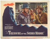 3e006 TREASURE OF THE SIERRA MADRE LC #8 '48 close up of Humphrey Bogart & Tim Holt at bar!