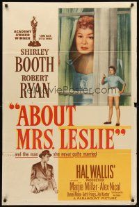 3g015 ABOUT MRS. LESLIE 1sh '54 Shirley Booth, Robert Ryan, the man she never quite married!