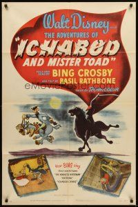 3g018 ADVENTURES OF ICHABOD & MISTER TOAD style A 1sh '49 BING & WALT wake up Sleepy Hollow!