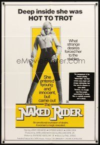 3g028 ALL THE YOUNG WIVES 1sh R77 sexy Linda Cook w/riding crop, The Naked Rider!