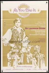 3g040 AS YOU LIKE IT 1sh R60s Sir Laurence Olivier in William Shakespeare's romantic comedy!